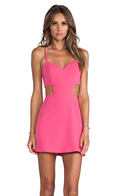 Naven Sweetheart Cutout Dress in Pop Pink