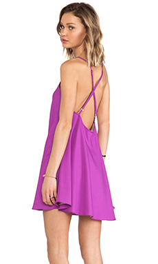Naven V Neck Babydoll Dress in Magenta