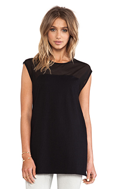 OAK Front Panel Muscle Tee in Black