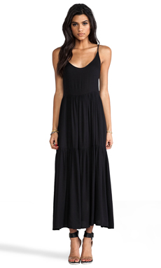 One Teaspoon Minky Maxi Tank Dress in Black