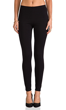 Only Hearts Double Knit Leggings in Black