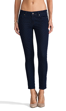 Paige Denim Verdugo Skinny Ankle in Pin Dot