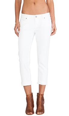 Paige Denim Jimmy Jimmy Crop in Optic White