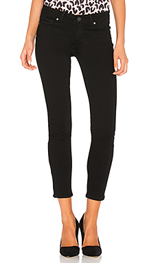 Paige Denim Verdugo Crop in Black Overdye