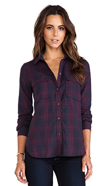 Paige Denim Trudy Shirt in Purple Dusk