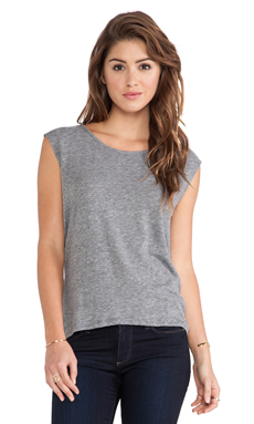 Paige Denim Gracelyn Tee in Heather Grey