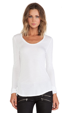 Paige Denim Mona Tee in Optic White