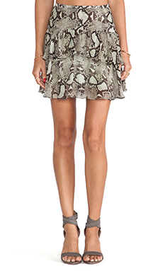 Pam & Gela Flunce Skirt in Mint Python Print