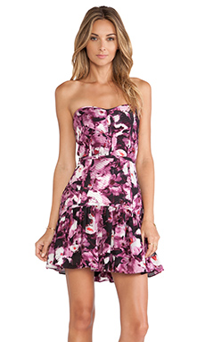 Parker Britney Combo Dress in Rosewood Floral Haze