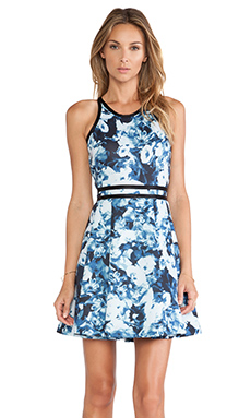 Parker Emmy Dress in Slate Floral Haze