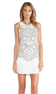 Parker Allegra Sequined Dress in White