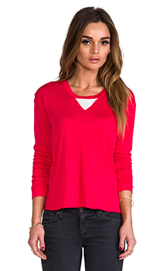 Pencey Standard Seamed Back T in Red