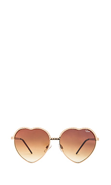 Quay Hearts Sunglasses in Gold