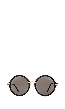 Quay Misty Sunglasses in Black