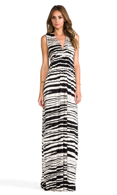 Rachel Pally Long Sleeveless Caftan in Cream Painted Stripe