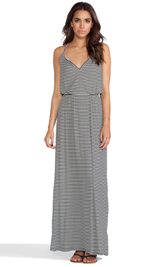 Rachel Pally Rib Rayne Dress in Black Stripe