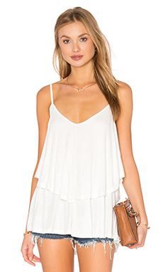 Rachel Pally EXCLUSIVE Rib Ruffle Top in White