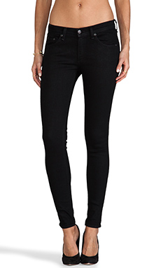 rag & bone/JEAN The Skinny in Coated Black