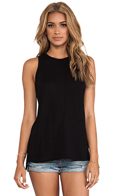 rag & bone/JEAN Bowery Tank in Black