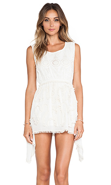 Raga Mini Dress in Eggshell