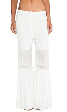 Raga Wide Leg Pant in Eggshell