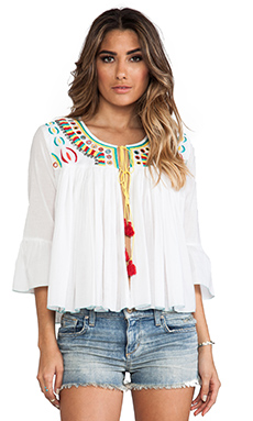 Raga Embroidered Blouse in White
