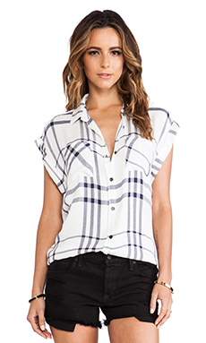 Rails Britt Button Down in Cadet Blue