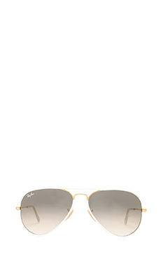 Ray-Ban Aviator in White/Gold
