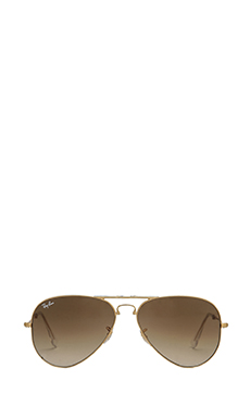 Ray-Ban Folding Aviator in Arista/Crystal Brown Gradient