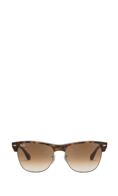 Ray-Ban Oversized Clubmaster in Demi Shiny Havana/Crystal Brown Gradient