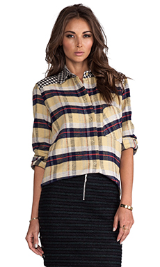 ROSEanna Young Thelma Plaid Button Down in Check