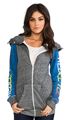 Rebel Yell Blocked Superfluous Hoodie in Heather Gray