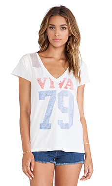 Rebel Yell Viva Throwback Jersey Tee in White