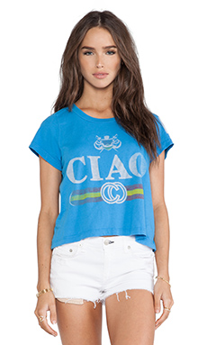 Rebel Yell Ciao Classic Crop Tee in Cobalt