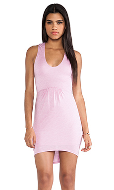 Riller & Fount Nelly Scoop Neck Mini Dress in Cosmo