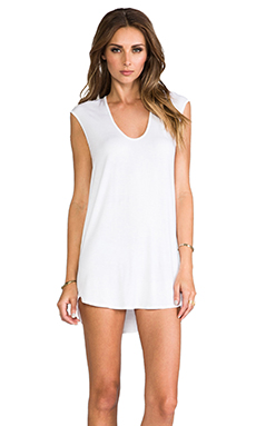 Riller & Fount Sammy Cap Sleeve Tunic in White