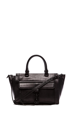 Rebecca Minkoff Bowery Satchel in Black