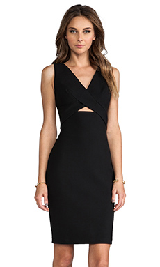Robert Rodriguez Tech Suiting Cutout Dress in Black