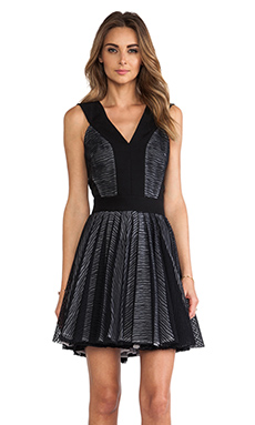 Robert Rodriguez Zebra Stripe Lace Dress in Black