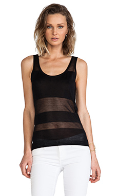 Robert Rodriguez Burnout Block Knit Tank in Black
