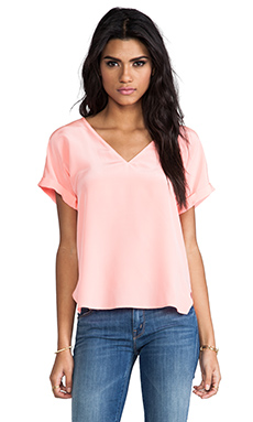 Rory Beca Pacaya Rolled Short Sleeve Tee in Cantaloupe