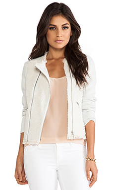 Rebecca Taylor Tweed Jacket in Celeste