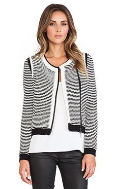 Rebecca Taylor Knit Jacket in Black & White