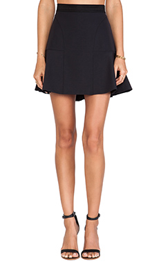 Rebecca Taylor Tech Flounce Skirt in Black