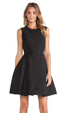 Red Valentino Heart Faille Dress in Black