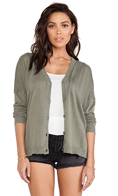 RVCA Marquel Cardigan in Dusty Olive