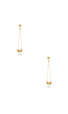 CUT CRYSTAL DROP EARRINGS