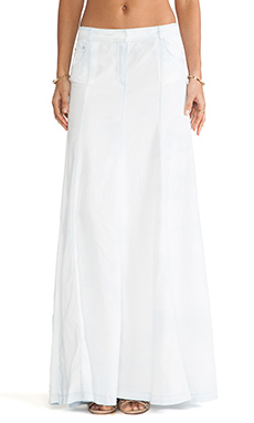 RACHEL ZOE Amelia Flared Maxi Skirt in Bleach Wash