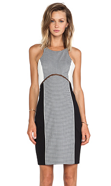 Sachin & Babi Colbie Dress in Houndstooth Print