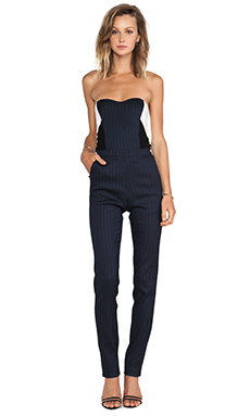 Sachin & Babi Rennie Jumpsuit in Charcoal Stripe